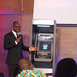 Tope Dare demonstrating at Inlaks ATM Innovation Roadshow
